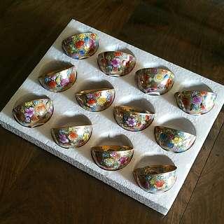 12 Zodiac Eggshell's Wan Hua teacups