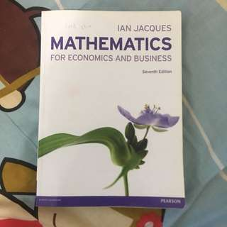 Ian Jaques Mathematics For Economic & Business