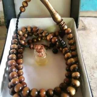 tasbih bahar tali arus emas plus bonus minyak pegasih dari indonesia