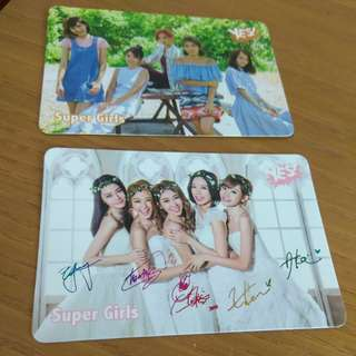 Super girls Yes card