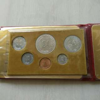 Singapore 1976 Year Of The Dragon Unc Coins Set