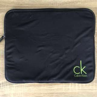 Calvin Klein laptop bag - black and green - used once
