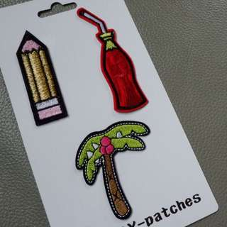 DIY Iron on Patches (set of 3)