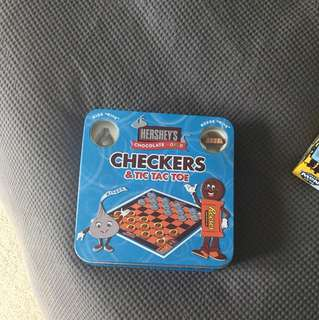 checkers and tic tac toe (hershey's chocolate edition)