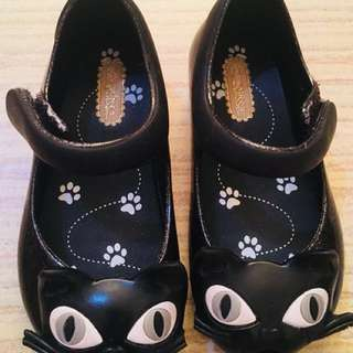 Authentic Mini Melissa Cat (glitter black)