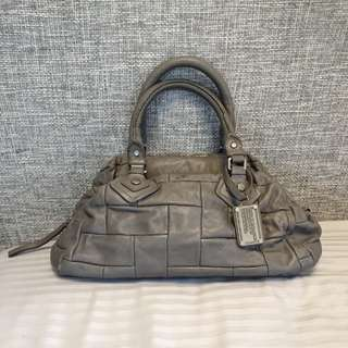 Marc by Marc Jacobs mouse grey leather Dr Q Patchwork groovee handbag