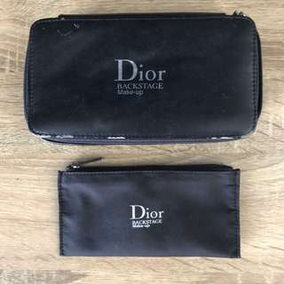 Dior Beauty backstage make up trousse de toilette black makeup box with mirror and pouch