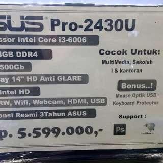 Asus Pro 2430U Cocok Untuk Multimedia/Gamming Bisa Dicicil Bunga 0