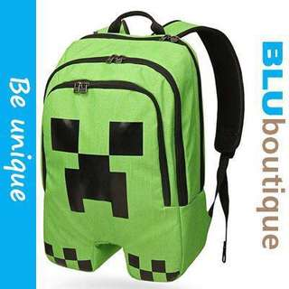 Free delivery! Minecraft Creeper Backpack (Ready stock) Minecraft Creeper Bag