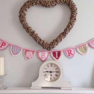 Crochet birthday party items