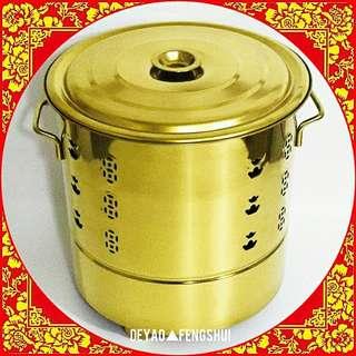 ▲BN Auspicious Religious Golden Offering Burner Bin▲
