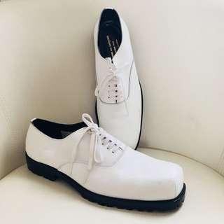 Comme des Garcons Homme Plus White Leather Shoes