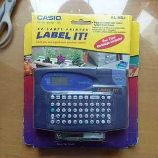 New Casio label printer 9mm tape cartridge included