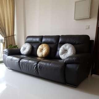 3 Seater Half Leather Sofa.