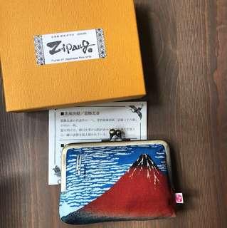 日本購 浮世繪 葛飾北斎 purse pouch