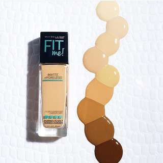 Maybelline Fit Me Matte and Poreless Foundation shade 220 Natural Beige