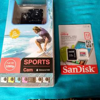 Action Camera with 32GB Micro SD