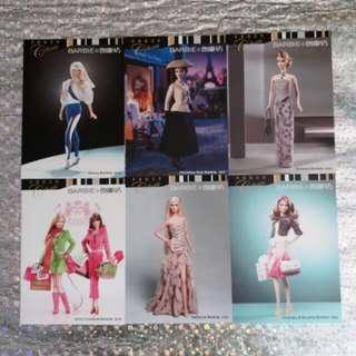 全新 BARBIE 97-06年珍藏版明信片一套六張