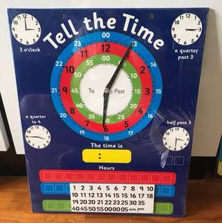 Magnetic Tell The Time Chart