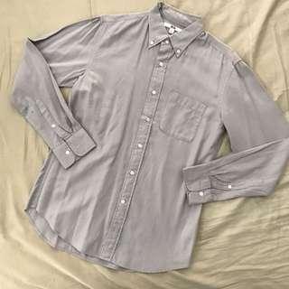 Uniqlo Grey Long Sleeves Polo Shirt