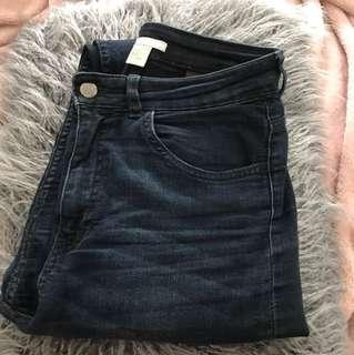 High waisted jeans