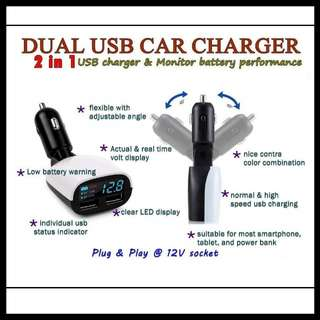 Car Smart Charger & Volmeter