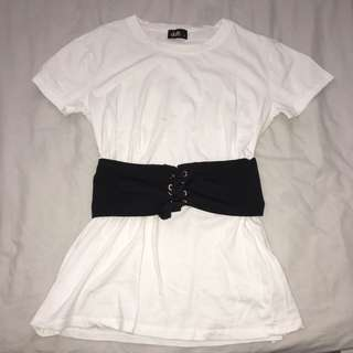 Long Tshirt w/ Corset Belt