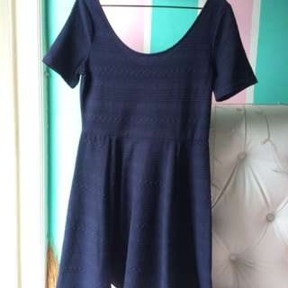 Navy Sabrina Flare mid-summer dress