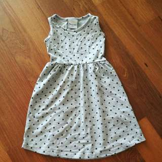 Girl Dress in Grey and Star size s