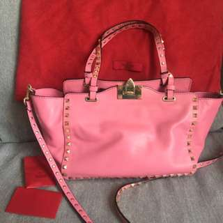 Valentino stud bag in pink (medium)