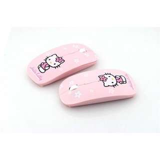 hello kitty silent clicking pink mouse [PREORDER]