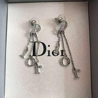 Dior ear rings迪奧水晶耳環一對