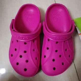 orig CROCS pink clog m:5,w:7
