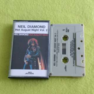 NEIL DIAMOND. hot august night vol. 2. Cassette tape not vinyl record