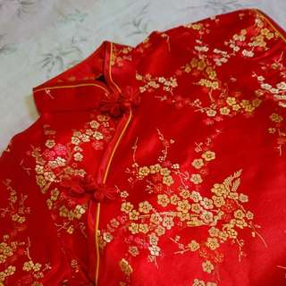 Cute Red Cheongsam for Baby