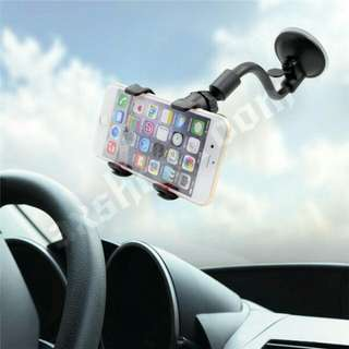 Strong Suction Cup Phone Holder For Car Windscreen. Clamp Clip With Silicon Rubber Cushion To Secure The Phone / GPS In Place