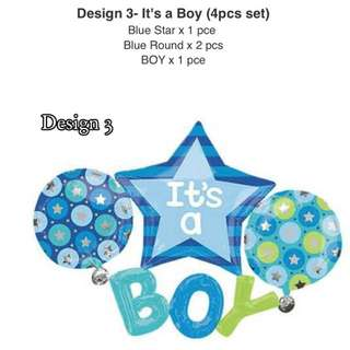 Design 3 - It's a Boy (4pcs Balloon Set)