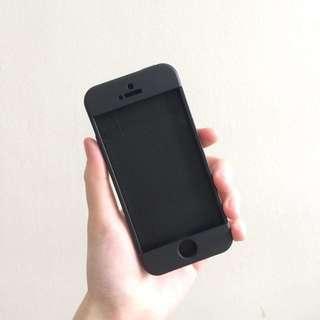 BLACK IPHONE 5/5S FULL COVER CASE
