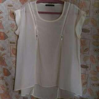 Sheer beige blouse