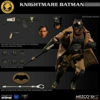"""訂5月MEZCO 6"""" 1/12 KNIGHTMARG BATMAN PX 蝙蝠俠1款 st"""