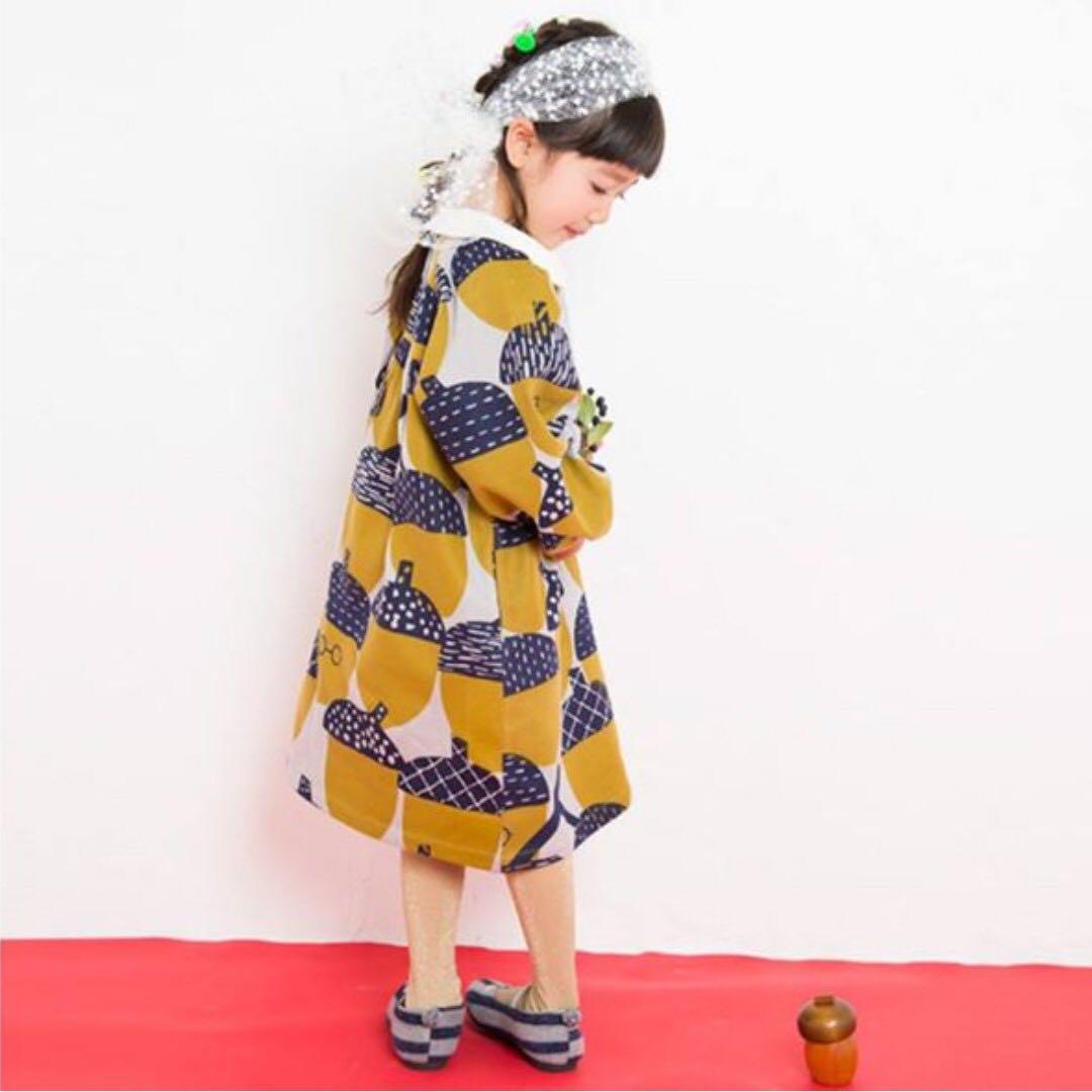 日本松果印花系列(洋裝)130cm