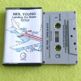 NEIL YOUNG. landing on water. Cassette tape not vinyl record