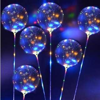 LED String Light w/ Transparent Helium Balloons Wedding Party Birthday Decor