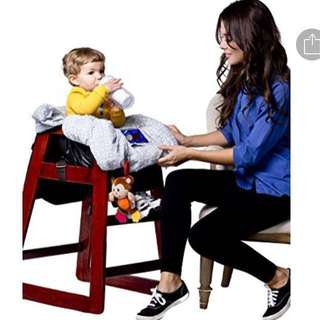 Premium 2 in 1 baby shopping Cart and high chair cover (with bottle/toys hole hook)