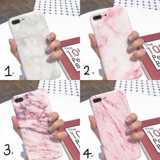 PO(289) Marble Lines Streaks Purple Slightly Glossy Pink White iPhone Phone Case