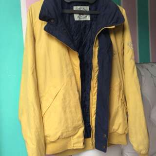 Mustard yellow parachute jacket