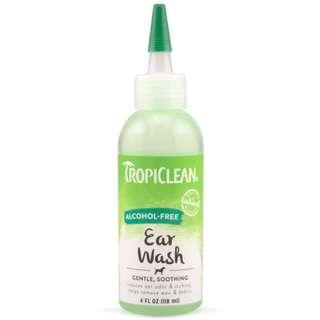 TropiClean Alcohol-Free Ear Wash 4oz