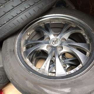 "Toyota Altis / Wish 16"" spare tyre and rim"