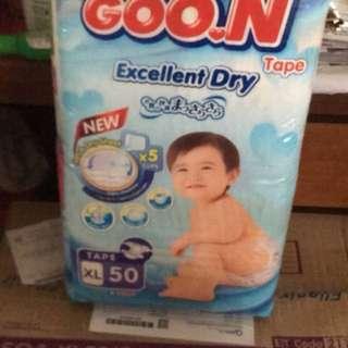 Goon pamper / diaper xl tape