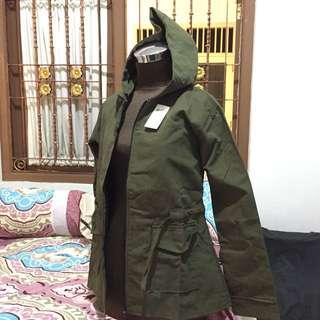 Jaket Parka Hijau Army
